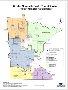 Greater Minnesota Public Transit Service Project Manager Assignments Sheets